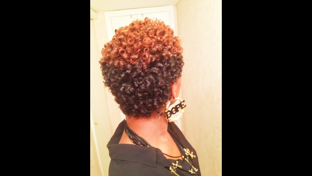 natural nappy hairstyles : AWESOME Perm Rod Set on Natural Hair (No Heat) - YouTube