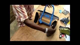 How to make Ankara shoe and  bag D I Y