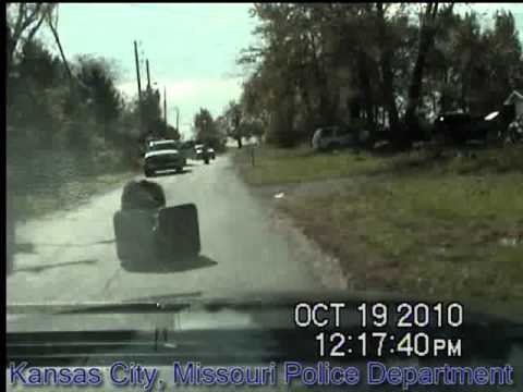 Chimp vs. KCPD police car