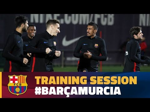 Last training session before the match against Murcia