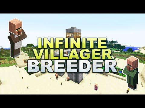 Minecraft - Infinite Villager Breeder - Tutorial 1.8