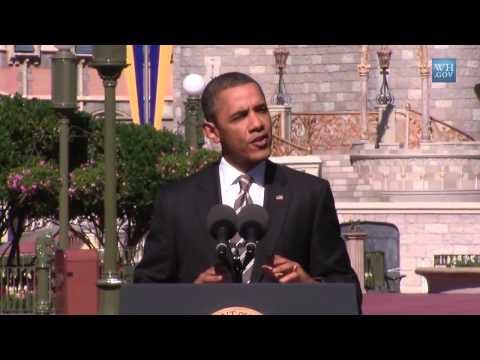 President Obama at the Magic Kingdom on Boosting Travel and Tourism Walt Disney World