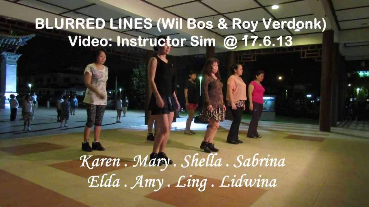 Blurred Lines YouTube Line Dance