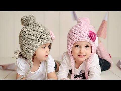 Hướng dẫn móc nón len họa tiết cho bé p4