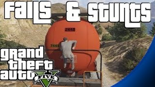 GTA 5 Stunts And Fails Compilation / Montage (Funny