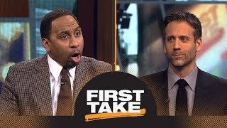 Stephen A. and Max debate if Celtics are being overhyped after loss to Cavaliers | First Take | ESP