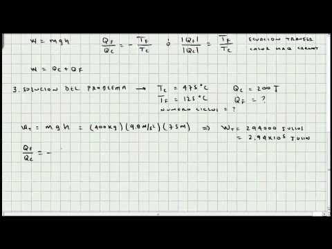 Ejercicio Maquinas de Carnot - Termodinámica - Mi Profesor de Fisica - Video 036