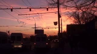 Apus de soare purpuriu la TeleCentrul Chișinăului
