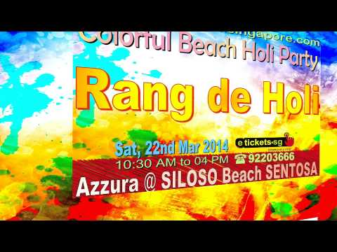 Rang De holi on 22nd March 2014 at Azzura Beach Club ,Siloso Beach ,Sentosa