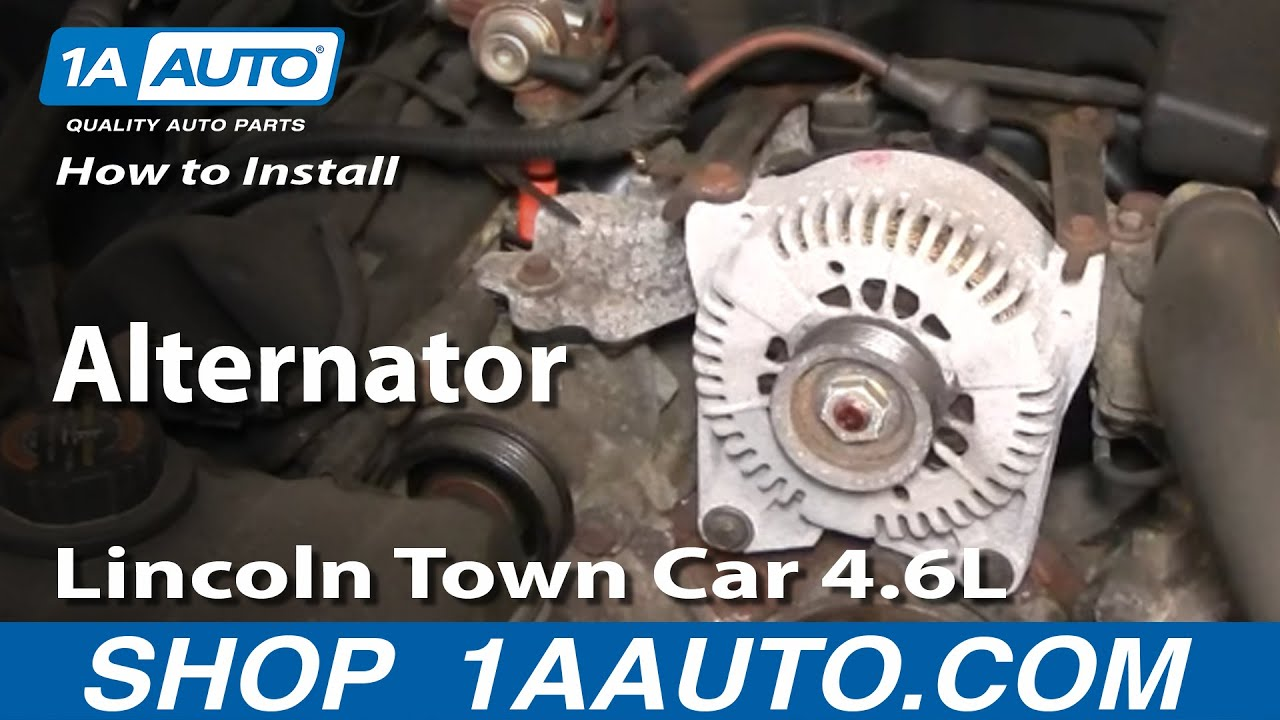How To Install Repair Replace Alternator Lincoln Town Car