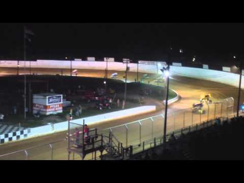 Port Royal Speedway 410 Sprint Car Highlights 7-12-14