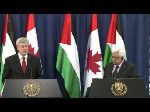 Joint press conference with Mahmoud Abbas