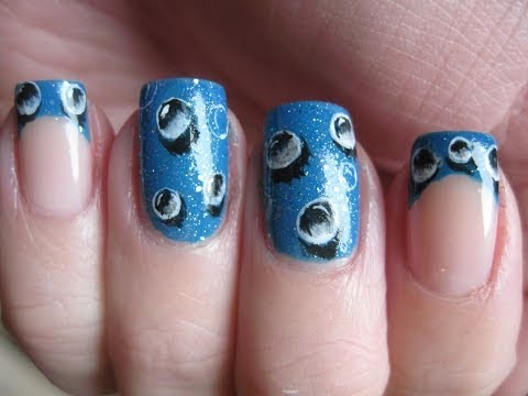 Nail art: 3D Waterdrops handpainted