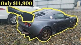 Copart: This is what a $15,000 bid gets you. Cheap Bentley, Lotus, Porsche 911, Goonzquad Mustang.