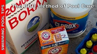 The BBB Method Using Bleach, Baking Soda & Borax To