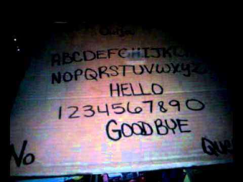 homemade ouija board session with orb youtube