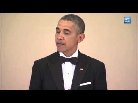 Obama Offers Toast At Japanese State Dinner
