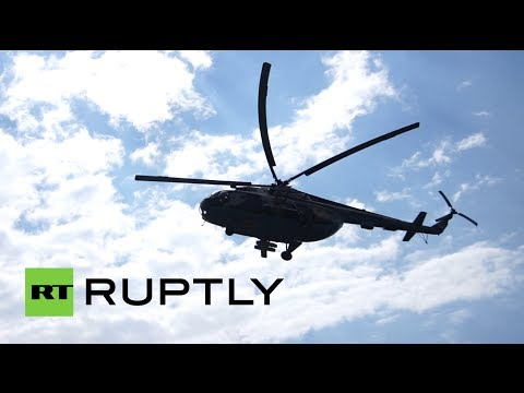 Footage: APCs, military helicopters on route to Slavyansk