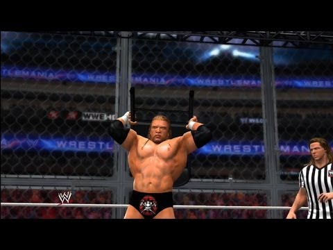 WWE 2K14: Wrestlemania 28: Undertaker Vs. Triple H (Hell in a Cell/HBK as Ref)