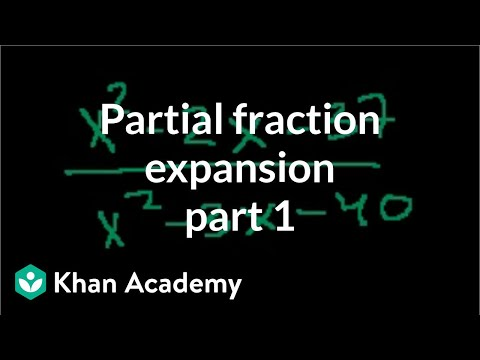 Partial Fraction Expansion 1