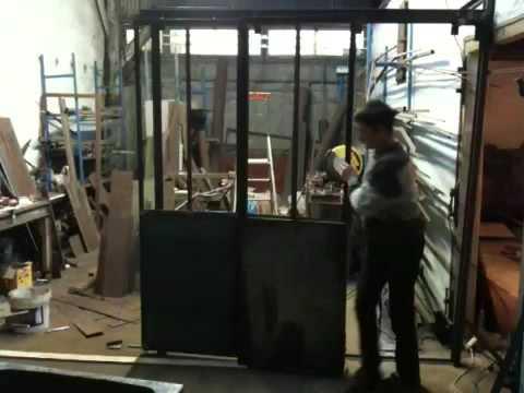 Verri res ouvrante 100 en porte int rieur astuce de fr d ric tabary youtube for Porte en fer atelier