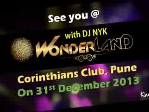 DJ NYK performing at Wonderland2014 @Corianthian Club, Pune on 31st Dec 2013
