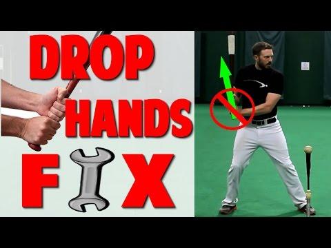 Baseball Hitting Drill | Drop Hands Fix (Pro Speed Baseball)