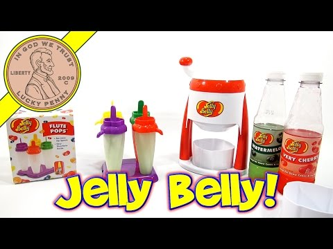 Jelly Belly Portable Ice Shaver - Watermelon/Cherry Flavor & Bonus Flute Pops!
