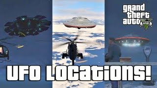 GTA V: All Secret UFO Locations! (So Far)