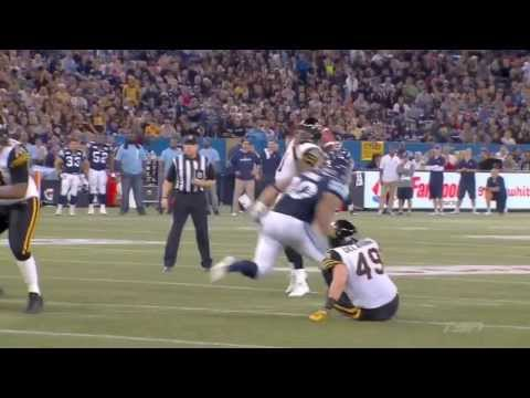 Henry Burris 14 yard touchdown pass to Greg Ellingson - November 17, 2013