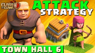 Clash Of Clans BEST ATTACK STRATEGY Townhall Level 6