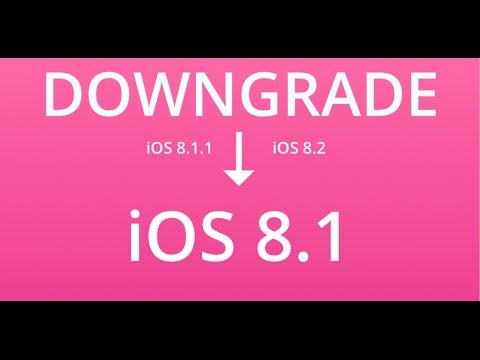 Cách restore iphone từ ios 8.1.1 về ios 8.1