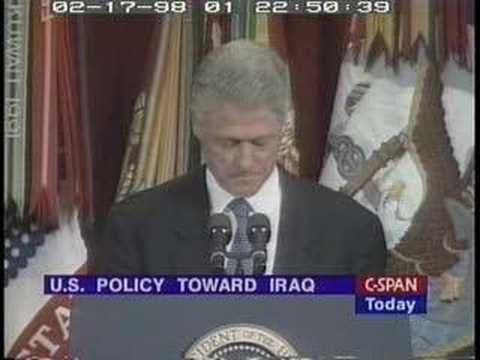 Bill Clinton: Clear Evidence of Iraqi WMD Program