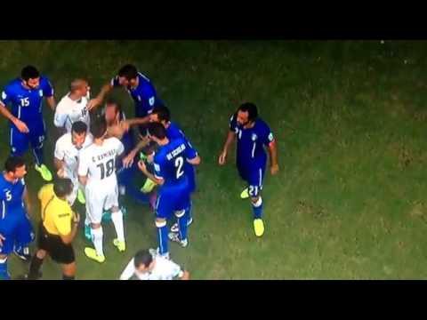 Luis Suarez bites Chiellini - World Cup 2014