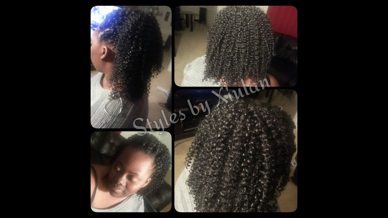 Crochet Braids High Pony Tail - YouTube