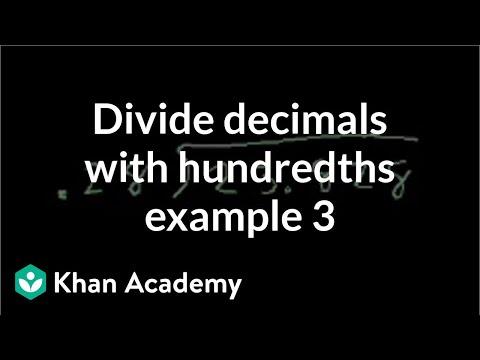 Dividing Decimal