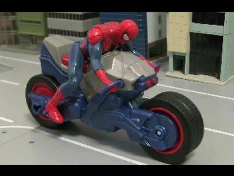 đồ chơi siêu nhân người nhện xe đạp  Spiderman Bike Toys 스파이더맨 오토바이장난감