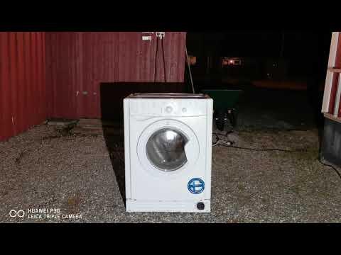 Funny indesit washing machine jumping around