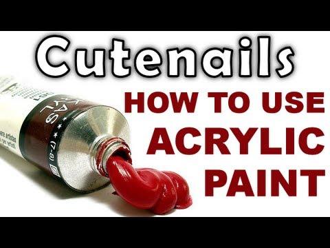 Nail Art Acrylic Paint Cutenails