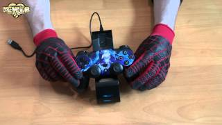 PS4 - Twin Controller Charger & USB Hub - Cool Clown