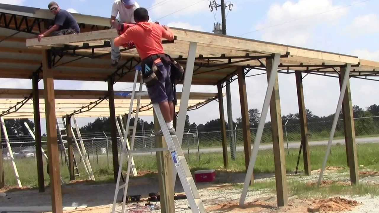 How To Install Lean To S On A 20x40 Steel Truss Pole Barn