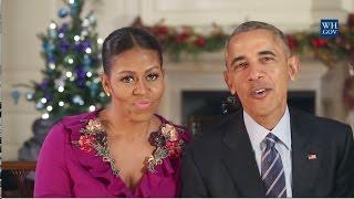 Obamas' Final Christmas Greeting - 2016