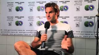 Halle 2014 Monday Interview Federer