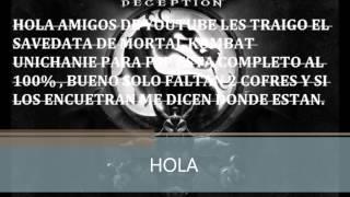 SAVEDATA DEL JUEGO DE MORTAL KOMBAT UNICHANIED PARA PSP