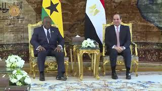 الرئيس السيسي يستقبل نظيره الغاني ومبعوث