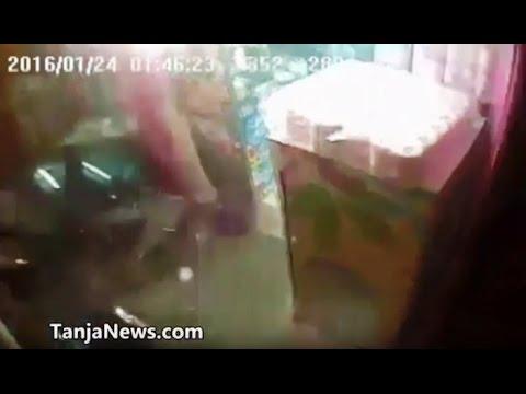طنجة: سيارة تصطدم بمحل تجاري بحي البساتين