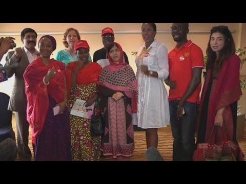 Malala Yousafzai meets relatives of kidnapped Nigerian schoolgirls