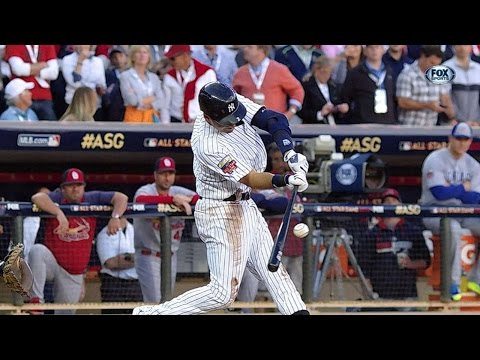 2014 ASG: Jeter doubles in first All-Star at-bat