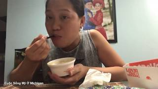 Cuộc Sống Mỹ Vlog 37 ll Ăn Gà Rán Popeyes Ở Nhà Tại Mỹ