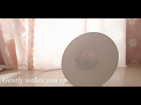 Gently wakes you up - Nature sound and light alarm clock